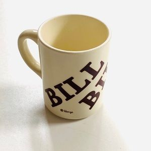 Vintage 1970s Houze Personalized Bill Coffee Mug
